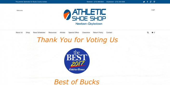 athletic shoe shop